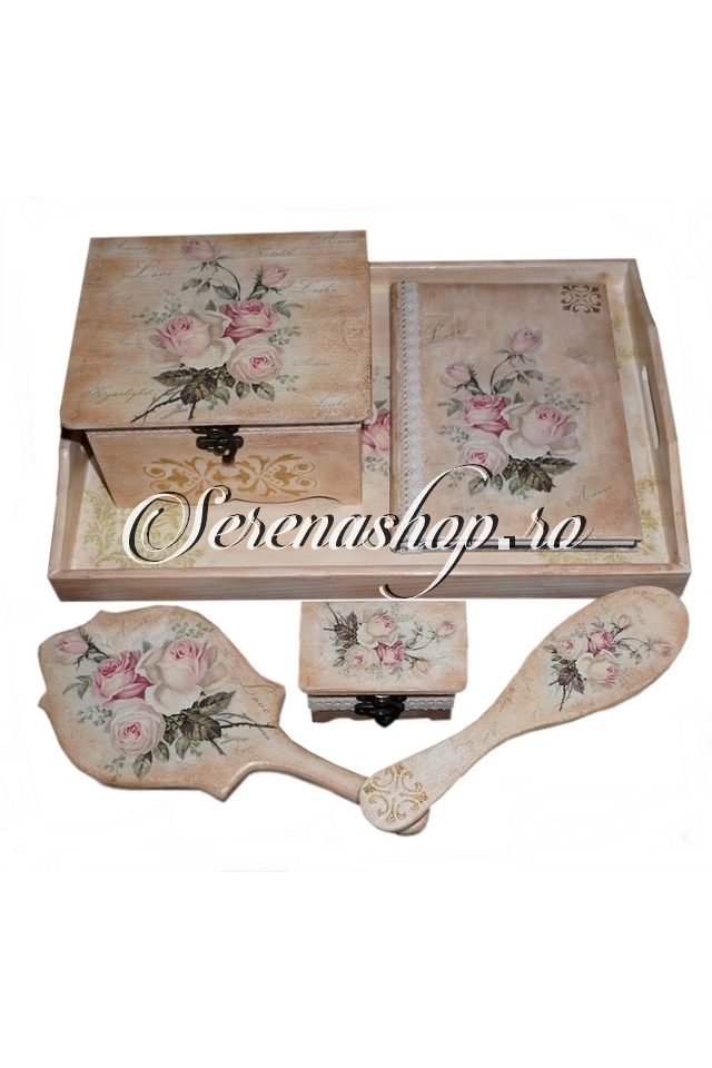 Set impodobit mireasa sau aniversar (turta) Romantic Roses