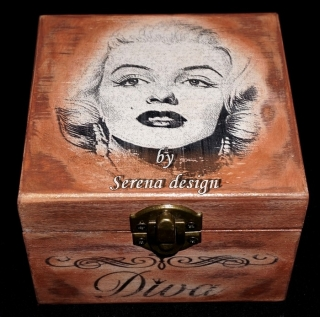 Cutie medie decorata MARYLIN MONROE